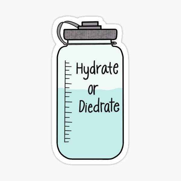Hydrate or Dydrate Sticker