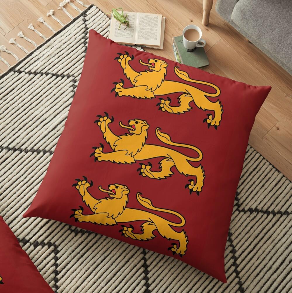 England coat of arms Floor Pillow