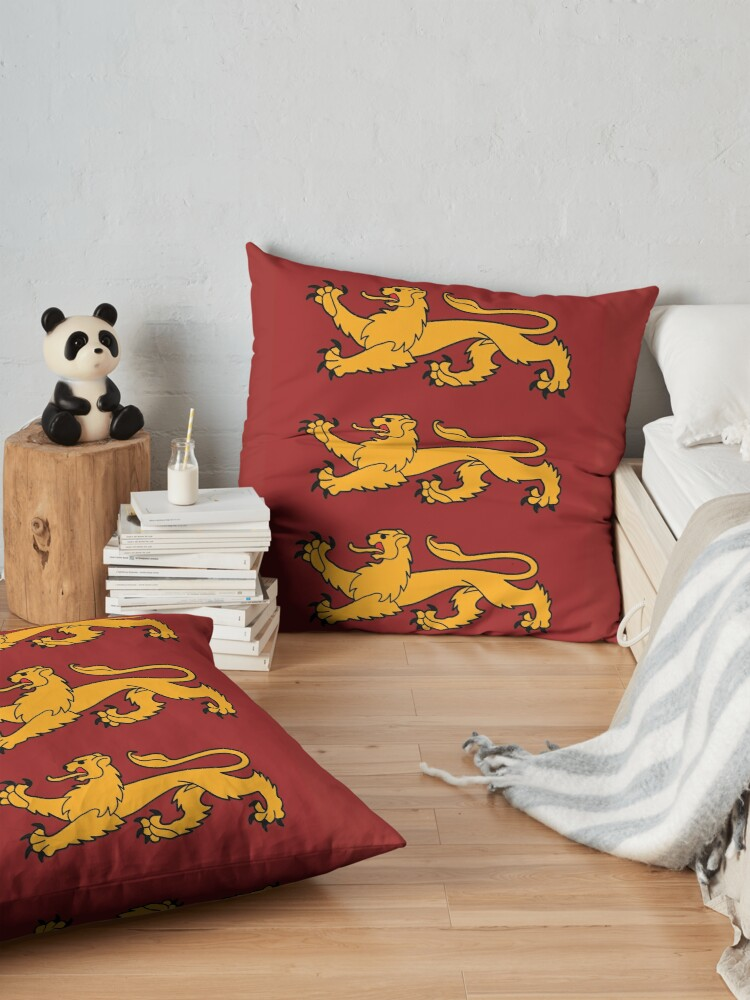 Alternate view of England coat of arms Floor Pillow