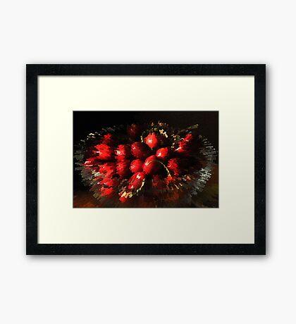 An explosion of cherries Framed Print