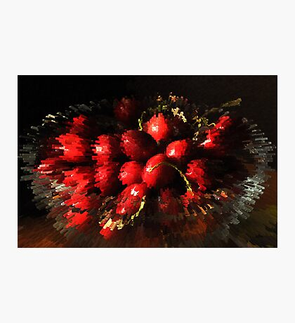 An explosion of cherries Photographic Print