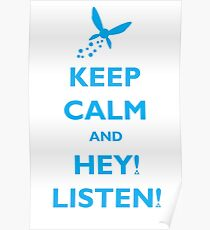 Keep Calm and Hey! Listen! Poster