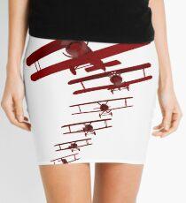 Retro Biplane Graphic Mini Skirt