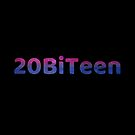 20BiTeen Galaxy Letters - Black Background by Benjamin Ace