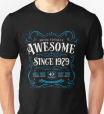 40th Birthday Gift Awesome Since 1979 Unisex T-Shirt