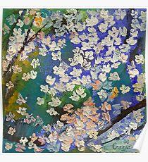 Sakura Oil Painting Poster