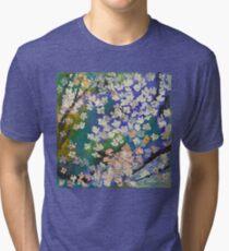 Sakura Oil Painting Tri-blend T-Shirt