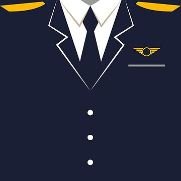 Airplane Pilot Uniform Design | Halloween Captain Art by melsens