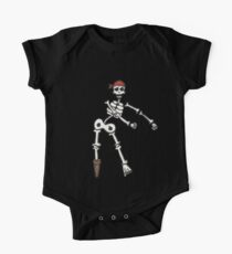 Floss Dance Skeleton Pirate Art | Halloween Flossing Gift One Piece - Short Sleeve