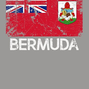 Bermudan Flag Design | Vintage Made In Bermuda Gift by melsens