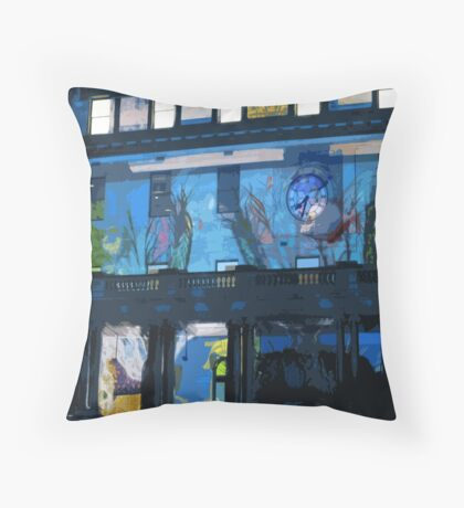 Fish in the Clocktower Throw Pillow