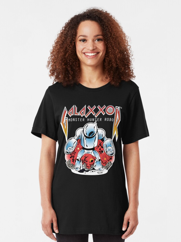 Alternate view of Galaxxor, Monster Hunter Robo illustration by Chris Faccone Slim Fit T-Shirt