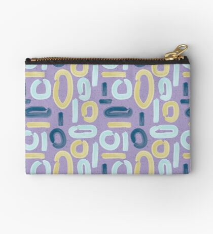 Abstract Lilac Studio Pouch