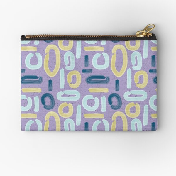 Abstract Lilac Zipper Pouch