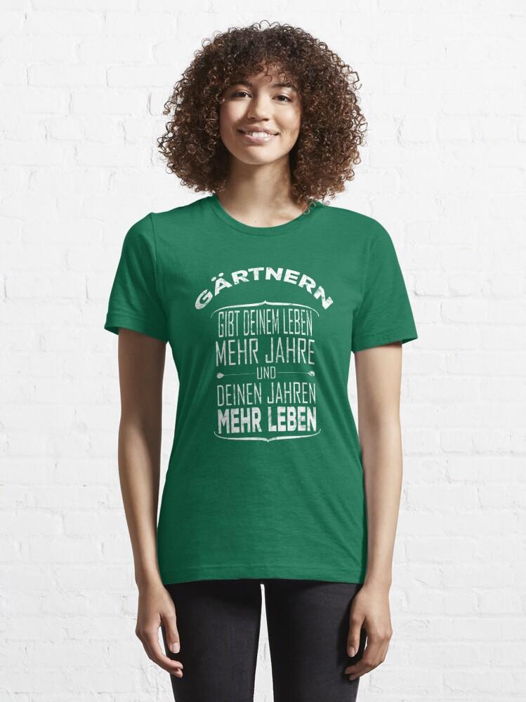 Alternative Ansicht von Gärtnern gibt deinem Leben mehr Jahre - Gärtner Geschenk Essential T-Shirt