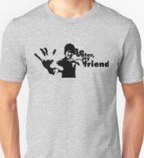 Camiseta ajustada Be Water My Friend, Bruce Lee y su cita famosa, ilustraciones, grabados, pósters, camisetas, hombres, mujeres, niños