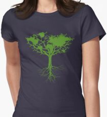 Earth Tree Classic Women's Fitted T-Shirt