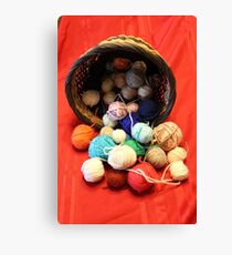 Knitting Yarn Canvas Print