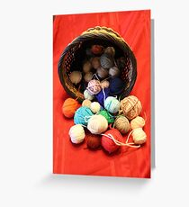Knitting Yarn Greeting Card