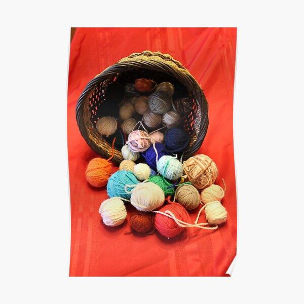 Knitting Yarn Poster