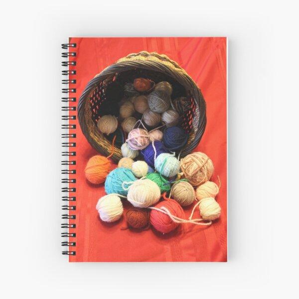 Knitting Yarn Spiral Notebook