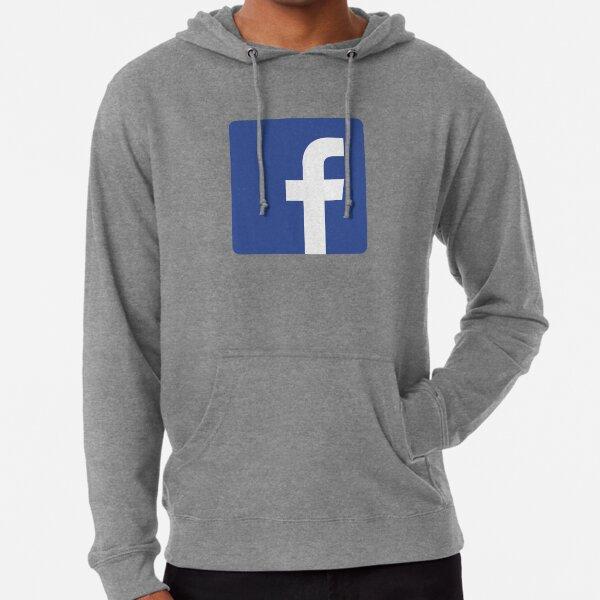 Facebook Logo Meme Merch Lightweight Hoodie