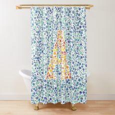 """A"" Eye Test Letter Shower Curtain"
