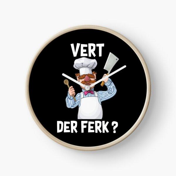 vert der ferk swedish chef funny meme Clock