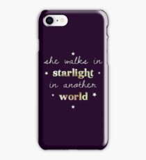 She walks in starlight in another world iPhone Case/Skin