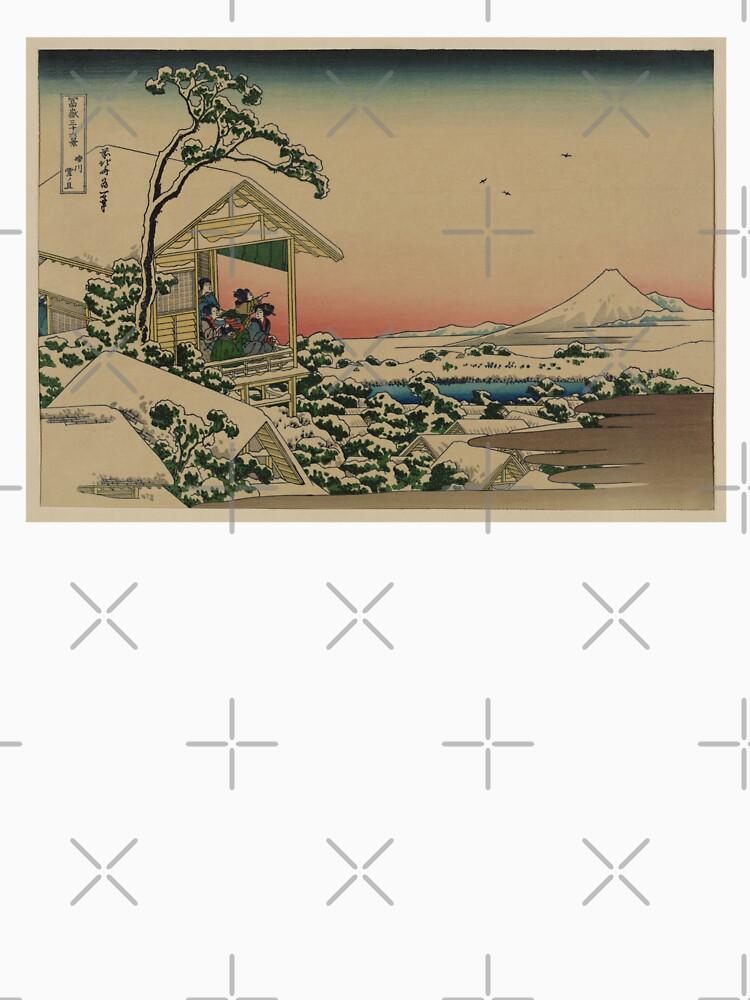Teehaus bei Koishikawa - Japaner vor 1915 Woodblock Print von ashburg