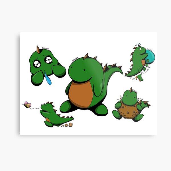 The Little Lizard Guy Metal Print