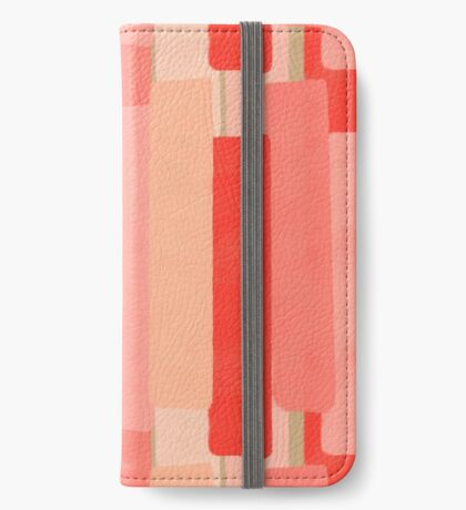 Like In Coral #redbubble #abstractart iPhone Wallet