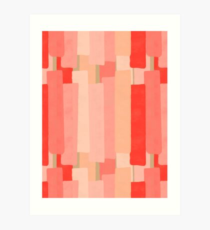 Like In Coral #redbubble #abstractart Art Print