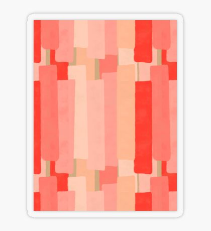 Like In Coral #redbubble #abstractart Transparent Sticker