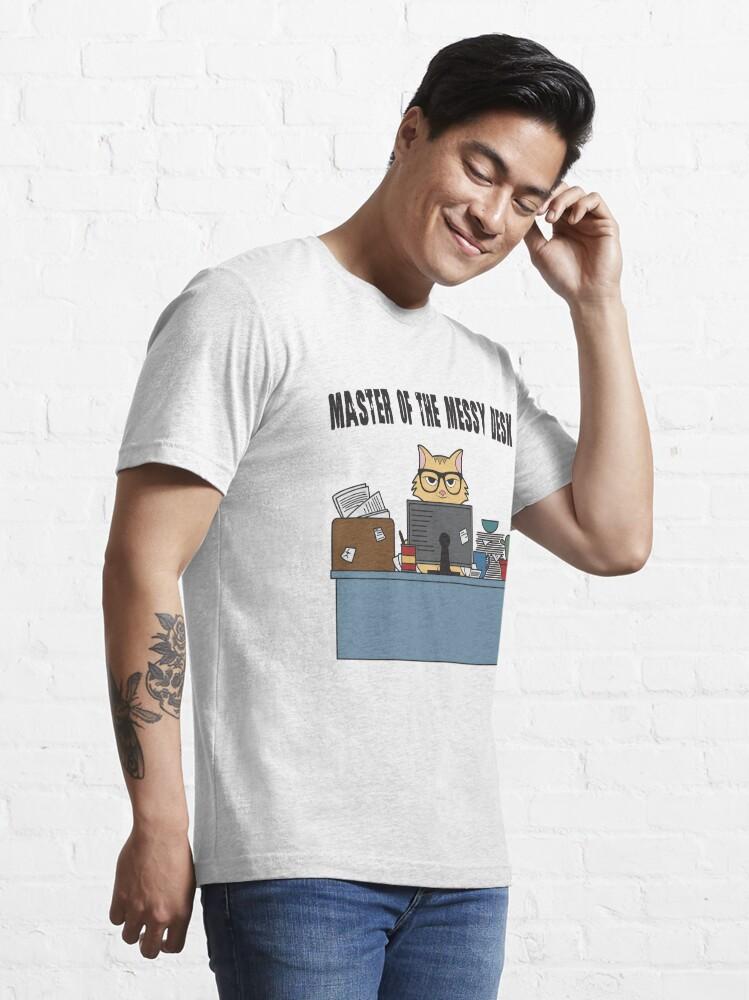 Alternative Ansicht von Master Of The Messy Desk Nerdy Cat - Messy Desk Gift Essential T-Shirt