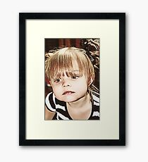 Little Girl Reflecting Framed Print