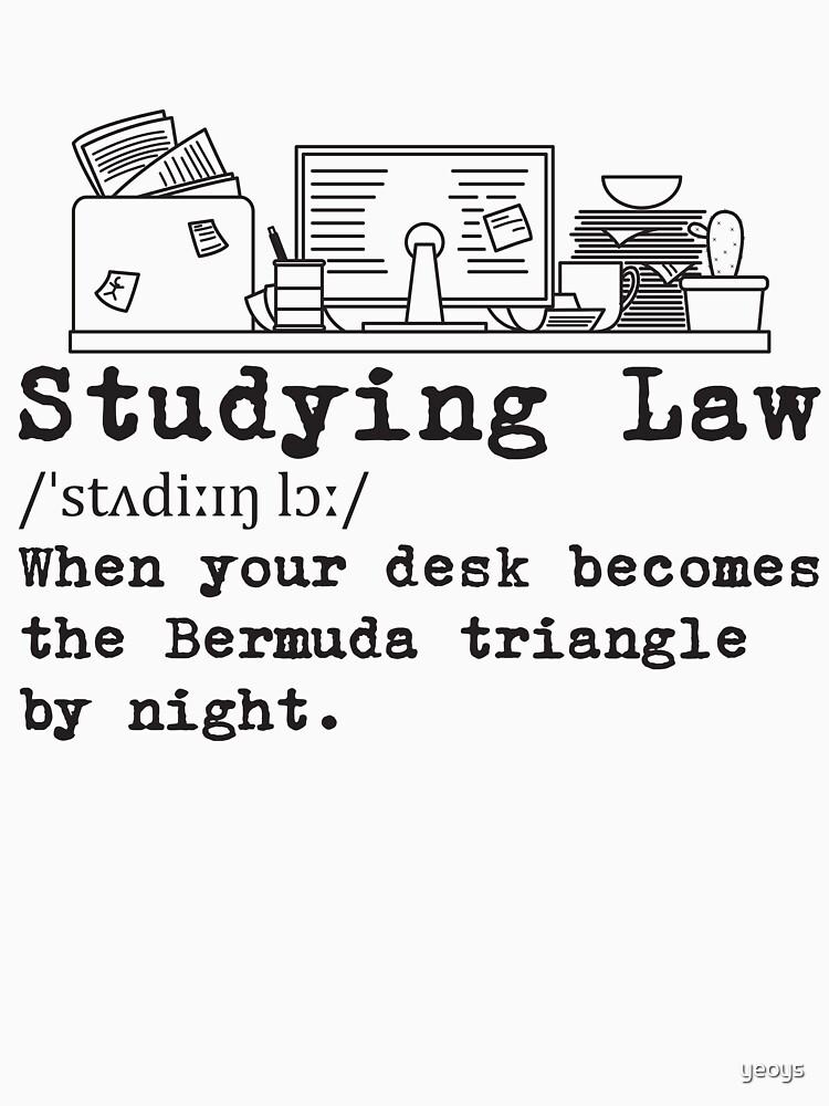 Studying Law Messy Desk - Messy Desk Gift von yeoys