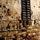 Old Wall with Shutter by Virginia Maguire