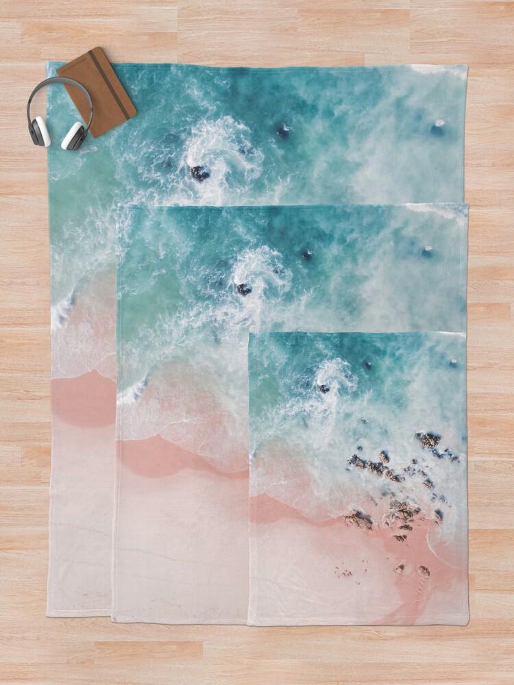 Alternate view of sea bliss Throw Blanket