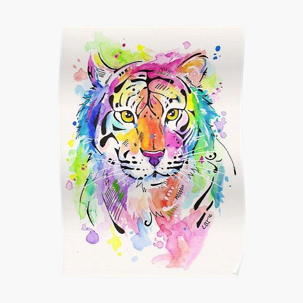 Tiger, Tiger - Abstract Watercolor Painting Poster