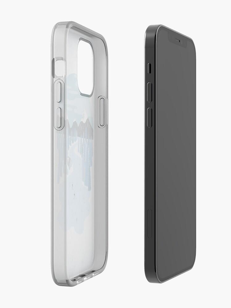 Alternate view of Pond Hockey iPhone Case