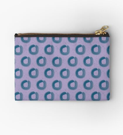 Abstract Lilac Loops Studio Pouch