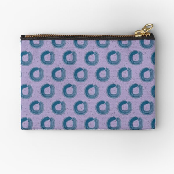 Abstract Lilac Loops Zipper Pouch