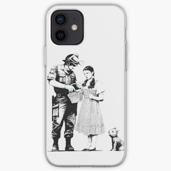 Banksy Policeman Searching Dorothy  iPhone Soft Case