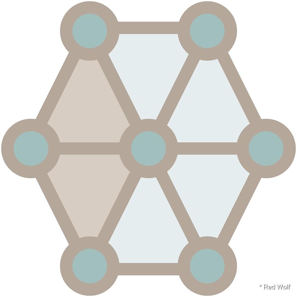Geometric Pattern: Hexagon Circle: Beach by * Red Wolf