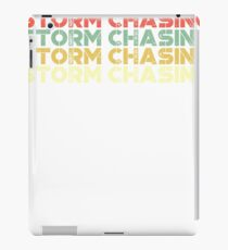 vintage storm chasing - retro storm chasing  iPad Case/Skin