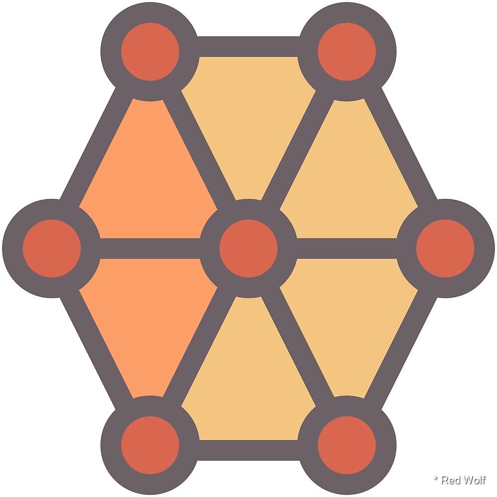 Geometric Pattern: Hexagon Circle: Sunset by * Red Wolf