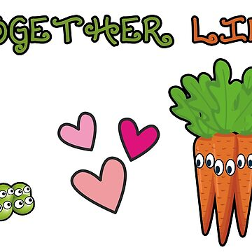 Together like peas and carrots card by markstones