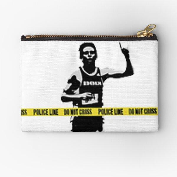 Banksy Marathon Runner Police Line Zipper Pouch
