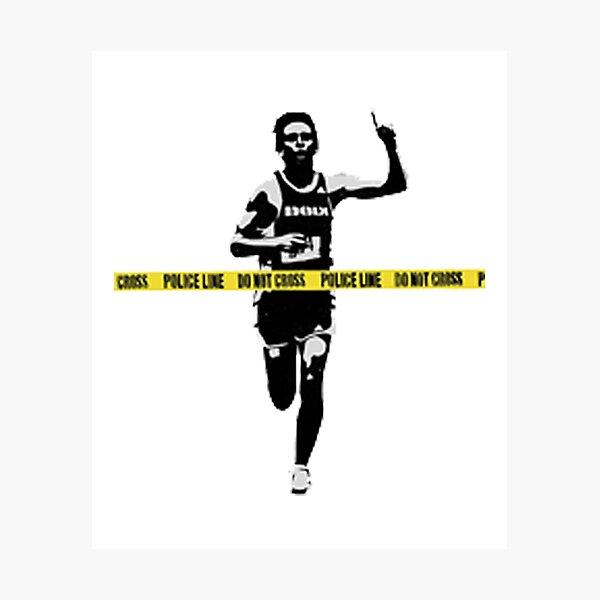 Ligne de police Banksy Marathon Runner Impression photo